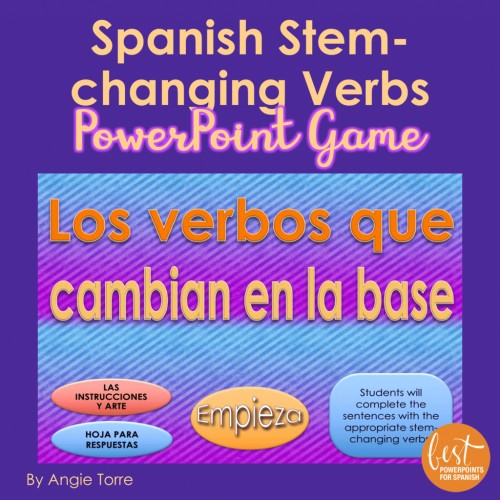 Spanish Stem-changing Verbs Interactive PowerPoint Game
