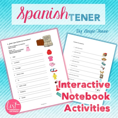 Spanish Tener Interactive Notebook Activities