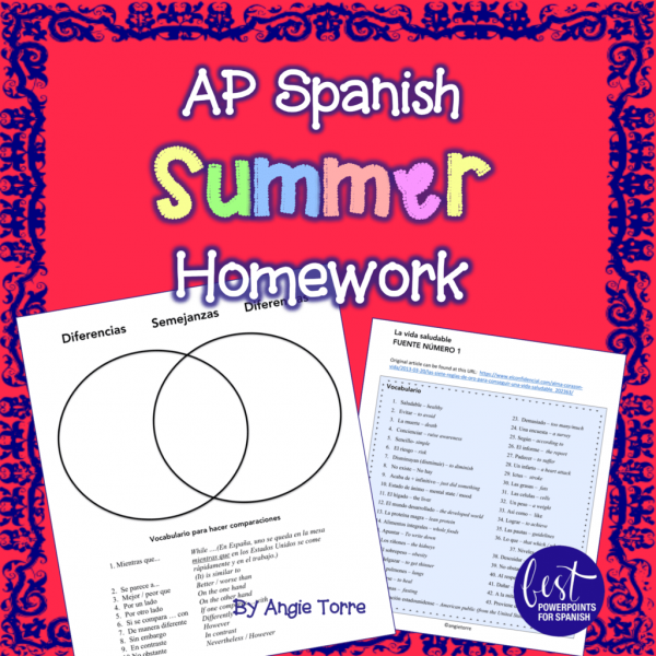 AP Spanish Summer Homework