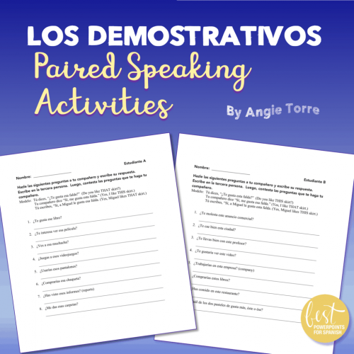 Spanish Demonstrative Adjectives
