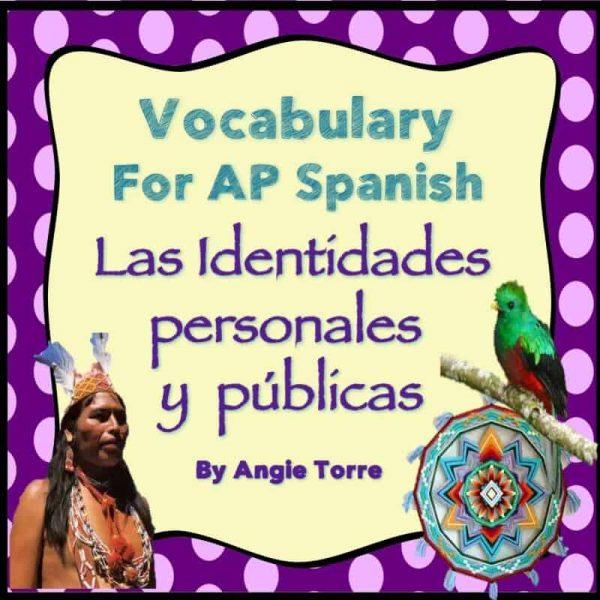 Vocabulary for Triángulo aprobado: las identidades personales y públicas