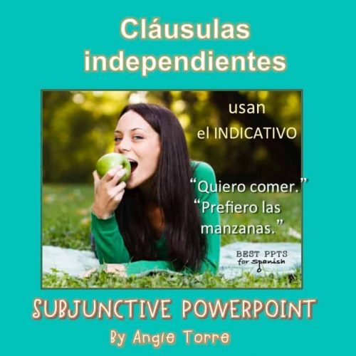 Subjunctive PowerPoint for Spanish Three and Four
