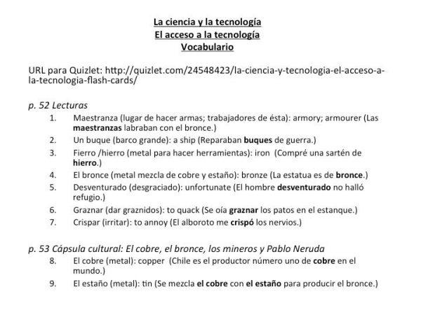 AP Spanish Vocabulary Practice for Triángulo Aprobado: La