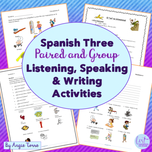 Spanish Three Paired Activities