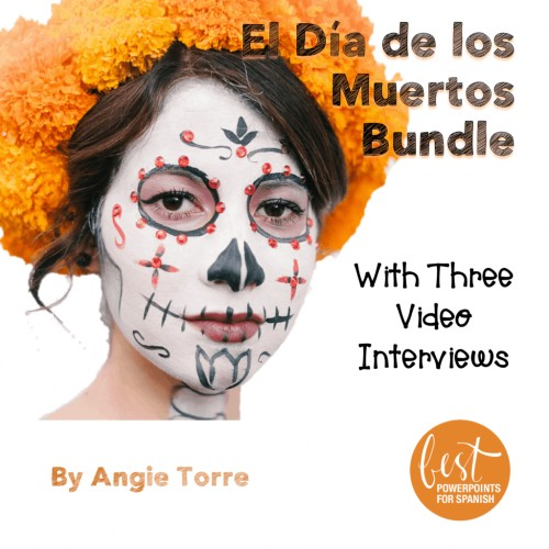 Spanish Day of the Dead El Día de los Muertos PowerPoint and Activities Bundle