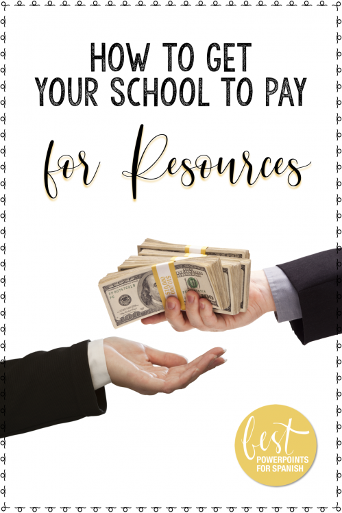How to Get Your School to Pay for Resources