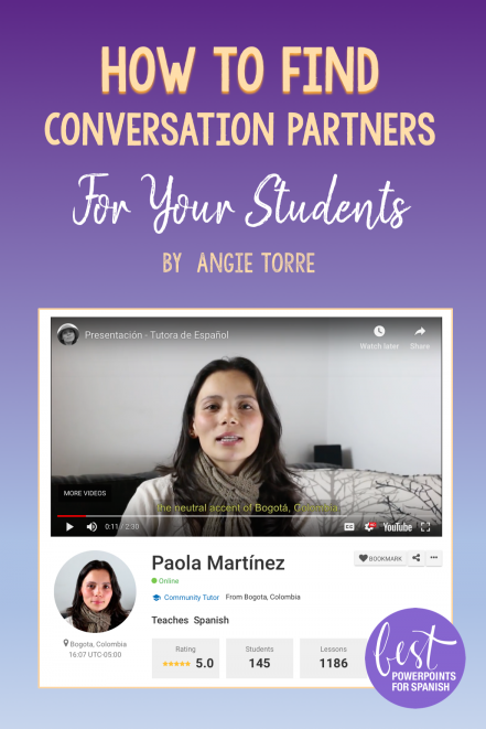 How to Find Conversation Partners for Your Students
