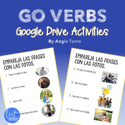 Spanish GO Verbs Google Drive Activities