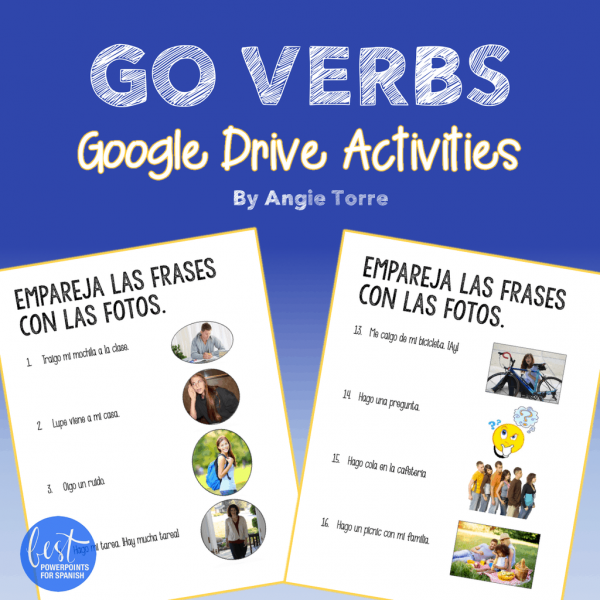 Spanish GO Verbs Google Drive Activities