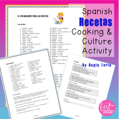 Spanish Recetas: Food, Cooking, and Culture Project