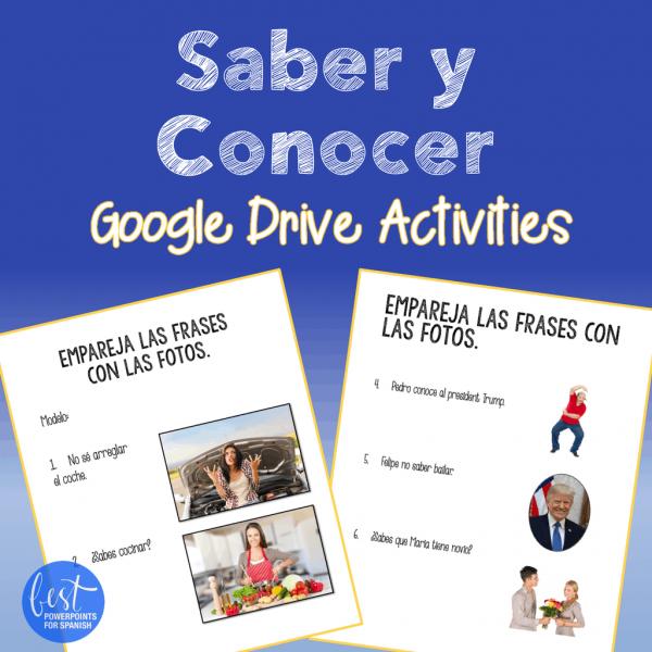 Saber vs. conocer Google Drive Activities
