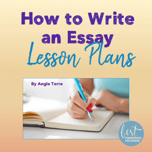 How to Write an Essay in Spanish Lesson Plans