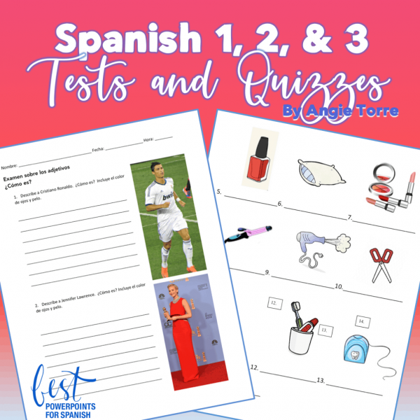Spanish One Two Three Tests and Quizzes