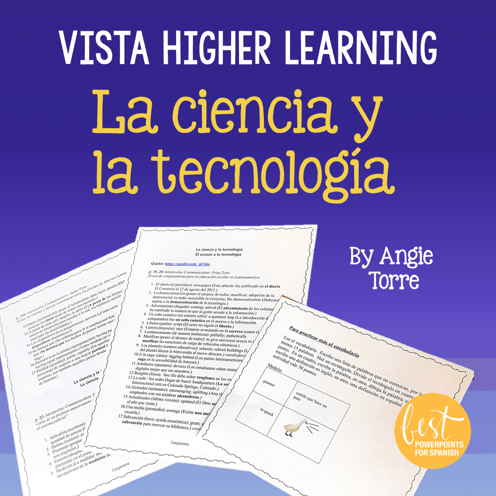 La Ciencia Y La Tecnología For Vista Higher Learning Ap Spanish Vocabulary Best Powerpoints For Spanish French