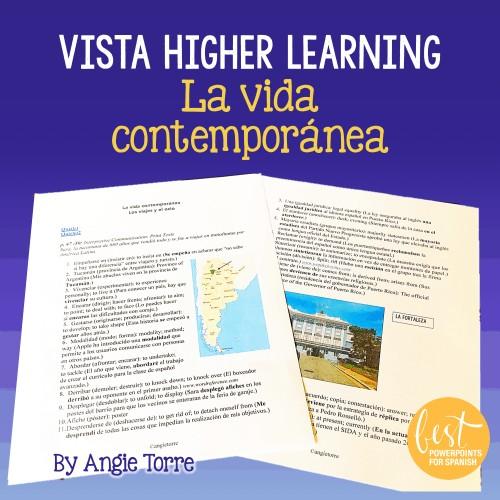 Vista Higher Learning La vida contemporánea