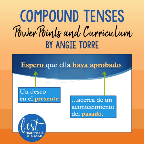 Compound Tenses PowerPoints and Curriculum by Angie Torre