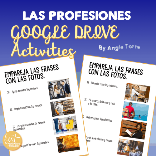 Las profesiones Google Drive Activities