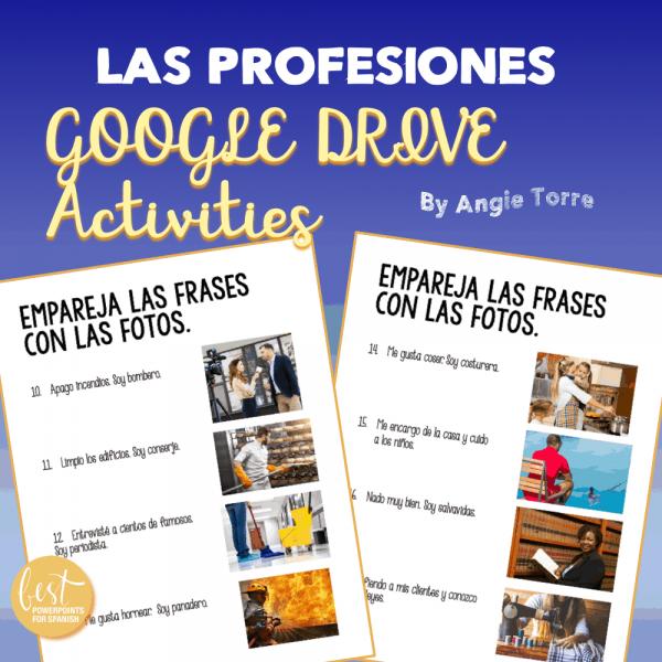 Las profesiones Google Drive Activities