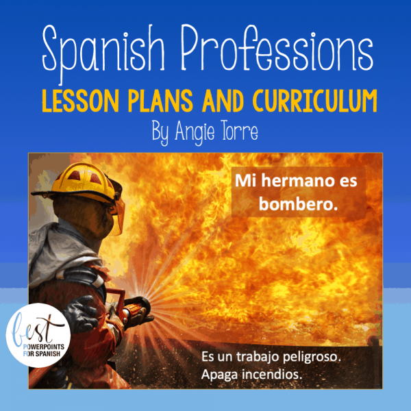 Spanish Professions Lesson Plans and Curriculum by Angie Torre