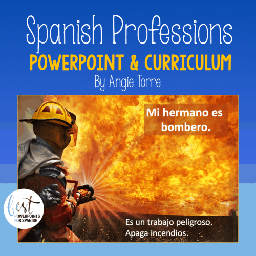 Spanish Professions PowerPoint and Curriculum