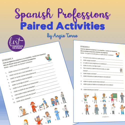 Spanish Professions Paired Activities