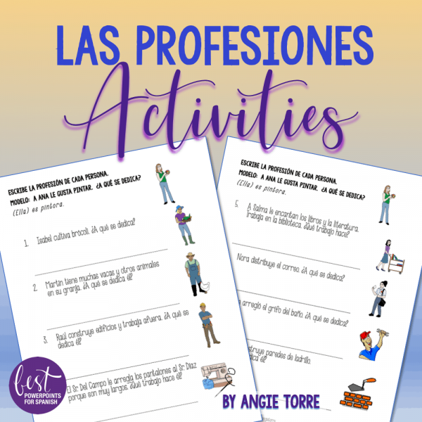 Las profesiones Activities