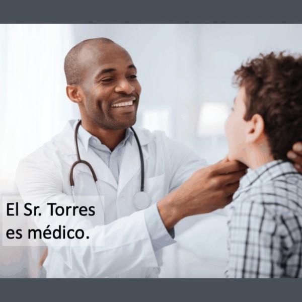 Las profesiones: El Sr. Torres es médico.