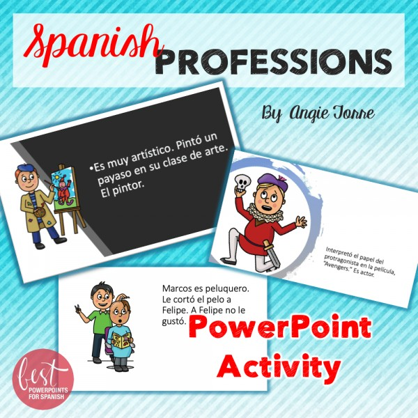 Spanish Professions PowerPoint Activity