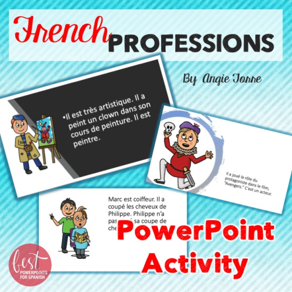 French Professions PowerPoint Activity