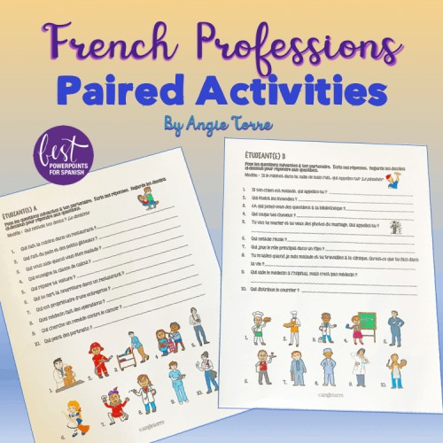 French Professions Paired Activiteis