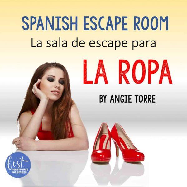 Spanish Escape Room La sala de escape para La ropa by Angie Torrre