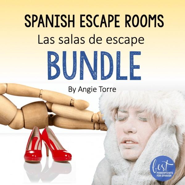 Spanish Escape Rooms Las salas de escape Bundle