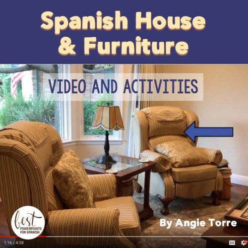 Spanish House and Furniture Video and Activities
