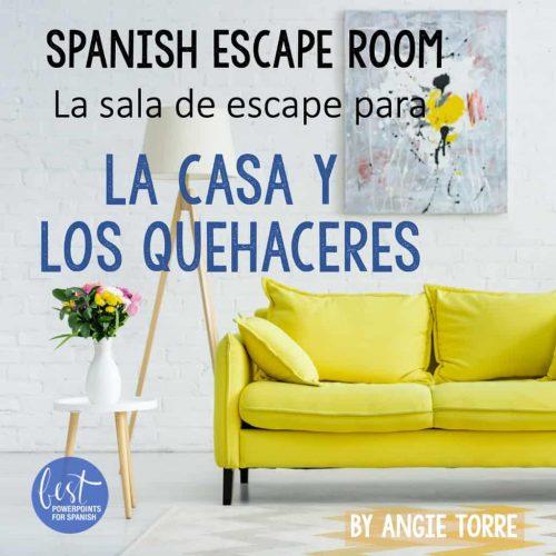 Spanish Escape Room La sala de escape para la casa y los quehaceres