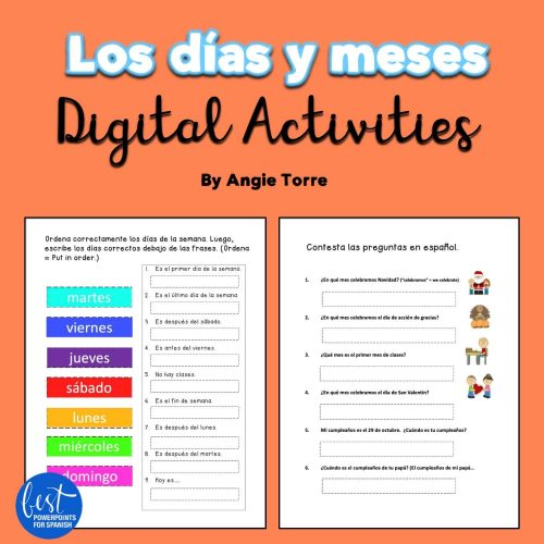 Los días y meses Digital Activities