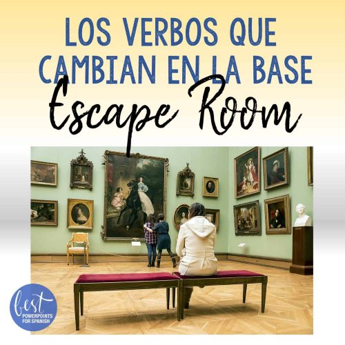 Spanish Stem-changing Verbs Digital Escape Room