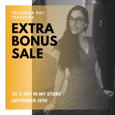 TPT Extra Bonus Sale