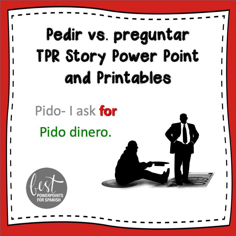 Pedir Preguntar TPR Story PowerPoint and Printables