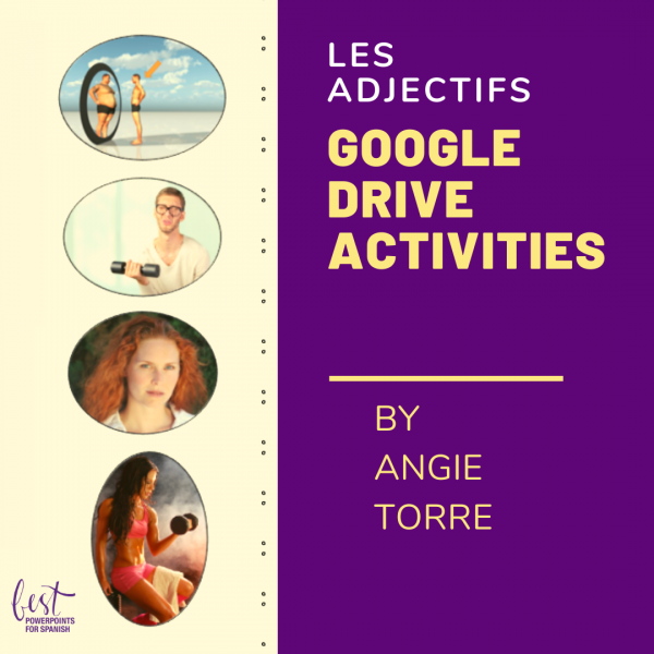 French Descriptive Adjectives Google Drive Activities