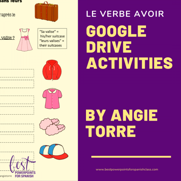 French Avoir Google Drive Activities