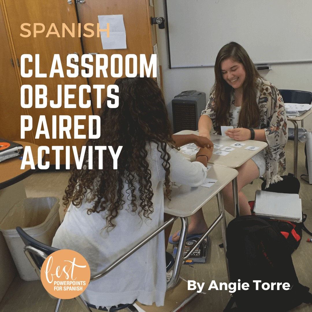 Spanish Classroom Objects Paired Activity