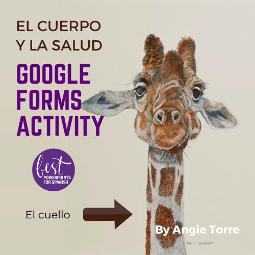 Spanish Body Parts Google Forms Activity