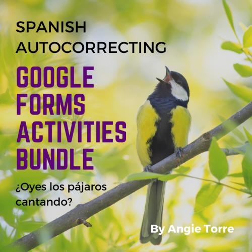 Spanish Autocorrecting Google Forms Activities Bundle