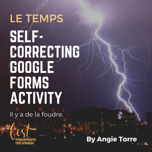 French Weather Vocabulary Google Drive Activity