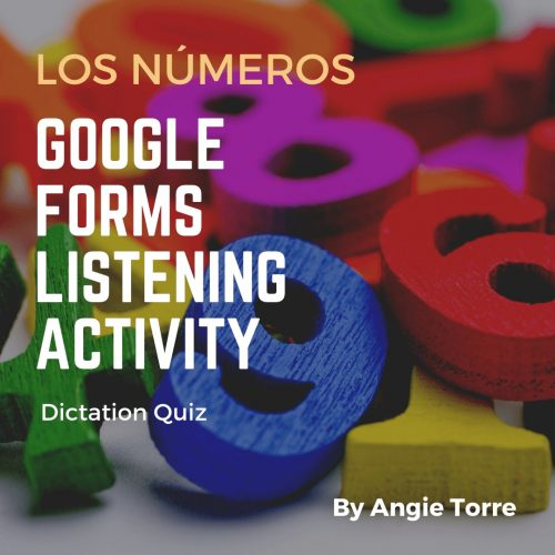 Spanish Numbers 0-100 Google Forms Digital Listening Activity Blocks of different brightly colored numbers