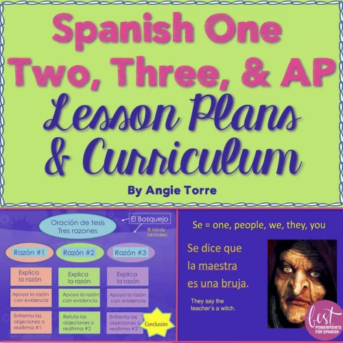 Spanish One Two Three and AP Year-long Lesson Plans and Curriculum