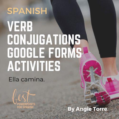 Spanish Present Tense AR | ER | IR Regular Verbs Google Forms Activity