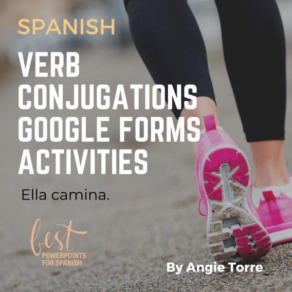 Spanish Present Tense AR   ER   IR Regular Verbs Google Forms Activity