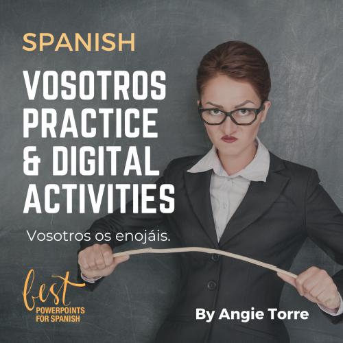 Spanish Vosotros Conjugation Practice and Digital Activities