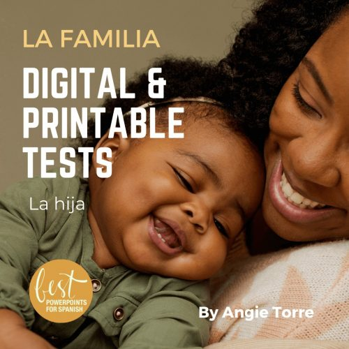 La familia Digital and Printable Tests Black mother and baby laughing